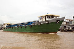 Freight boat on Mekong Delta Royalty Free Stock Photos