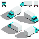 Freight car isometry. Low detailing isometric Stock Photos