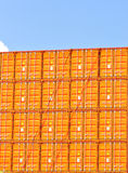 Freight cargo containers Royalty Free Stock Photos
