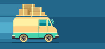 Freight cargo delivery transport minibus Royalty Free Stock Image