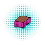Freight carriage icon, comics style Stock Image
