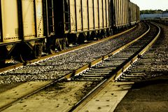 Freight cars. In the railyard Stock Images