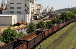 Freight cars Stock Images