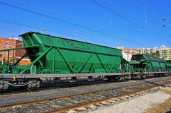 Freight cars. In the railway Stock Photo