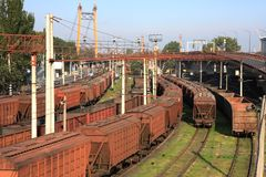 Freight Cars Royalty Free Stock Photos