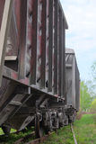 Freight cars. On the rails Stock Images