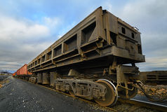 Freight cars at the railway Stock Photos