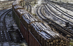 Freight cars sort on the railway 4 Stock Photography