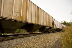 Freight Cars Speeding Stock Photography