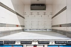 Freight compartment of a truck Stock Photo