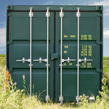 Freight Container. A Closeup of  a Green Freight Container Royalty Free Stock Images