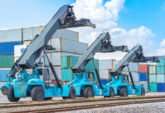 Freight container crane Royalty Free Stock Images