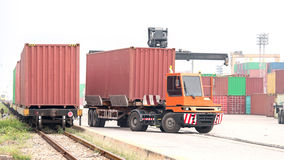 Freight container crane Stock Image