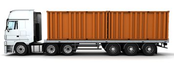 Freight container Delivery Vehicle Stock Photo