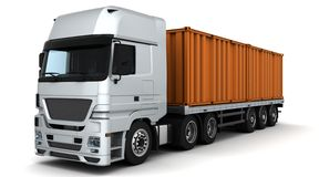 Freight container Delivery Vehicle vector illustration