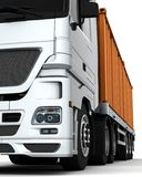 Freight container Delivery Vehicle Royalty Free Stock Photos