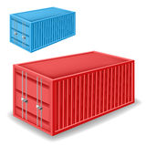 Freight container set Royalty Free Stock Photography