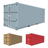 Freight Container Vector Royalty Free Stock Image