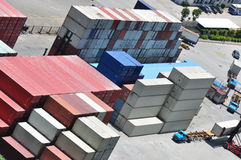 Freight container warehouse Royalty Free Stock Photos