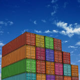 Freight Containers Stock Image