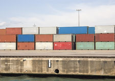 Freight containers Royalty Free Stock Photos
