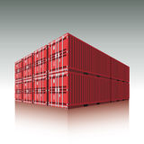 Freight containers. Freight cargo containers. Vector illustration Royalty Free Stock Photos