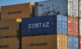 Freight containers Stock Images