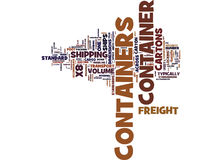 Freight Containers Transformed Logistics Text Background  Word Cloud Concept Royalty Free Stock Images