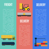 Freight and delivery flyers set Stock Images