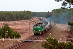 Freight diesel train Stock Image