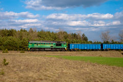 Freight diesel train Royalty Free Stock Images