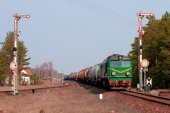 Freight diesel train Royalty Free Stock Photos