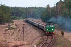 Freight diesel train Stock Photos