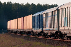 Freight diesel train Royalty Free Stock Photography