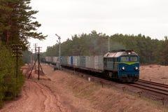 Freight Diesel Train Stock Photo