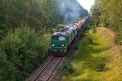 Freight diesel train Stock Photos
