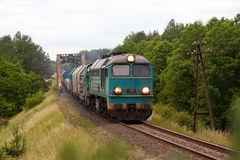 Freight diesel train Royalty Free Stock Image