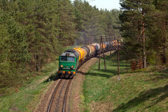 Freight diesel train Stock Photography