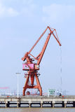 Freight dock crane Royalty Free Stock Image