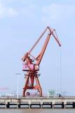 Freight dock crane Royalty Free Stock Image