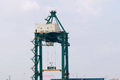 Freight dock crane Royalty Free Stock Images