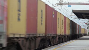Freight Electric Train. stock video