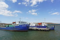 Freight ferries group of companies Royalty Free Stock Photo