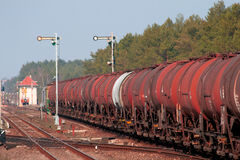 Freight fuel train Stock Images