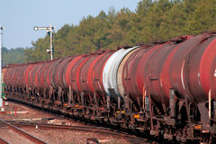 Freight fuel train Stock Photography