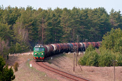 Freight fuel train Royalty Free Stock Photography