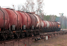 Freight fuel train Stock Image