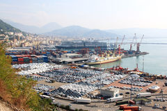 Freight harbour of Salerno, Italy Royalty Free Stock Images