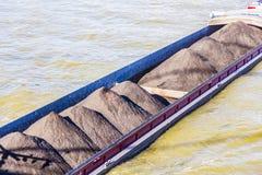 Freight-laden barge Stock Photos