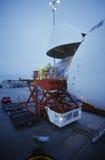 Freight loading onto Boeing 747 cargo aircraft Melbourne Australia Stock Image
